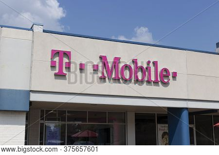 Indianapolis - Circa July 2020: T-mobile Retail Wireless Store. T-mobile Will Merge With Sprint In H