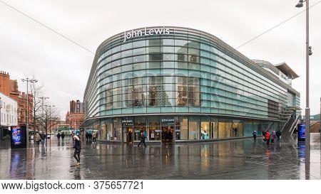 Liverpool, Uk - February 21 2020: John Lewis & Partners Brand Department Store Facade. Great Britain