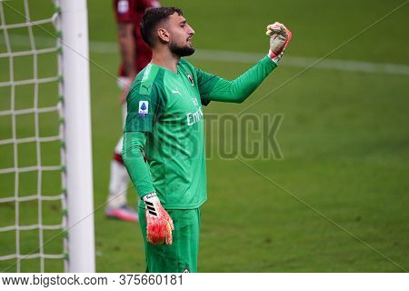 Milano (italy) - 07th July 2020. Italian Serie A. Gianluigi Donnarumma  Of Ac Milan In Action   Duri