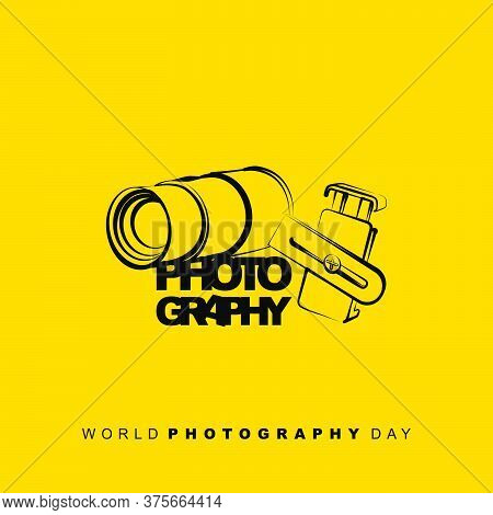 Vector Illustration Of Lensbong (phone Extra Lens) Line Art Concept Design. Good Template For Photog