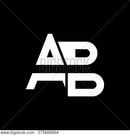 Ab Logo Design Business Typography Vector Template. Creative Linked Letter Ab Logo Template. Ab Font