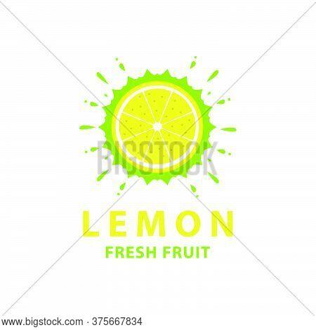 Lemon Fresh Fruit Logo Design Template For Flavor Design Element Product