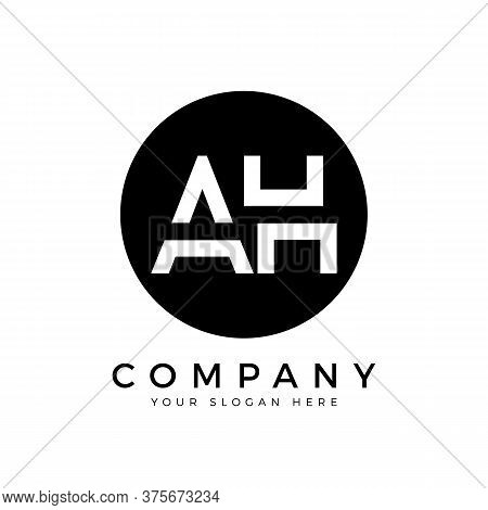 Ah Logo Design Business Typography Vector Template. Creative Linked Letter Ah Logo Template. Ah Font