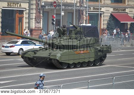 Moscow, Russia -june 24,2020: Victory Parade. Victory Day In Great Patriotic War. Celebrating Victor