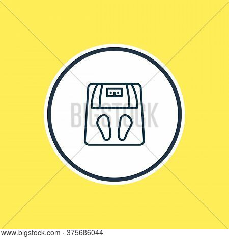 Illustration Of Scales Icon Line. Beautiful Toilet Element Also Can Be Used As Weigh Icon Element.