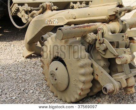 M48 A5 Patton tank with Soviet-designed KMT-4 mine detonating system poster