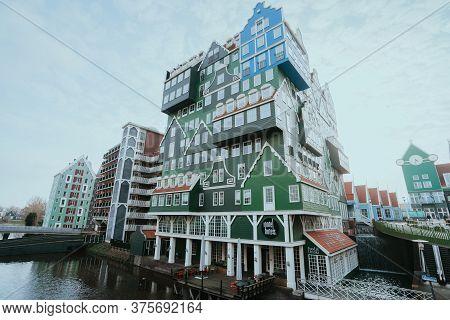 Zaandam, Netherlands - March 6, 2020: Inntel Hotels In Russische Buurt - Russian Neighbourhood In Za