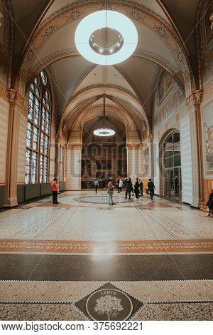 Amsterdam, Netherlands - March 7, 2020: Interior Of Rijksmuseum In Amsterdam