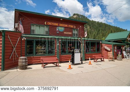 Cheyenne Crossing, South Dakota - June 22, 2020: The Cheyenne Crossing Store, Featuring A Gift Shop,