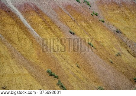 Abstract View Of The Sandstone Rock At The Yellow Mounds Overlook In Badlands National Park South Da