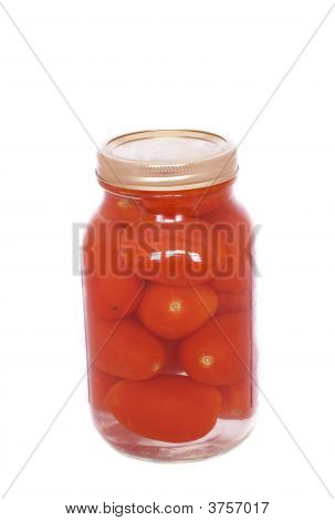 Canned Tomatoes In A Jar