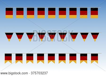Flags Of Germany. Banner For Carnival In Germany. Garland Of The National Symbol Of Germany. Vector