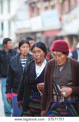Tibetan refugees in Kathmandu