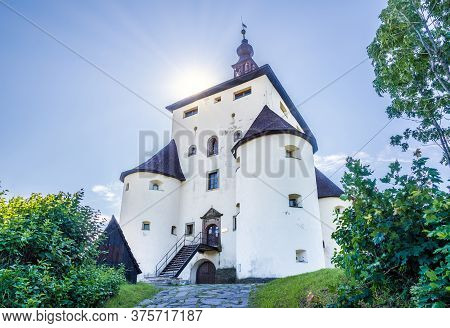 Banska Stiavnica,slovakia - July 9,2020 - View At The New Castle In Banska Stiavnica. Banska Stiavni