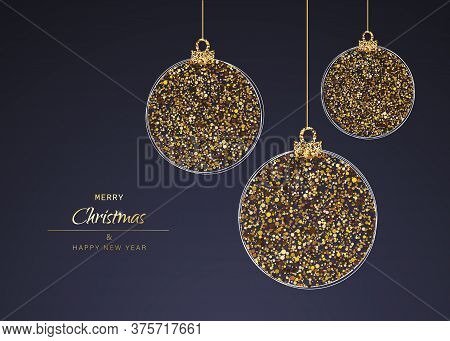 Christmas background with Shining gold balls. Christmas. Christmas Vector. Christmas Background. Merry Christmas Vector. Merry Christmas banner. Christmas illustrations. Merry Christmas Holidays. Merry Christmas and Happy New Year Vector Background.