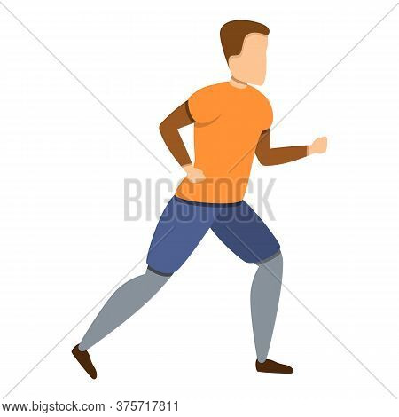 Trail Running Icon. Cartoon Of Trail Running Vector Icon For Web Design Isolated On White Background
