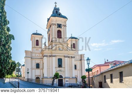 View At The Church Of Assumption Of The Blessed Virgin Mary In Banska Stiavnica - Slovakia
