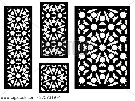 Cnc Decorative Pattern, Jali Design, Interior Element. Islamic , Arabic Laser Cut Kit Bundle. Shade