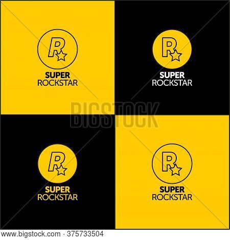 Rockstar Community Logo Design. For Your Businness, Print And Logotype. Vector Icon Letter R