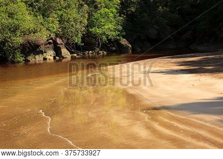 Small Beach Landscape In Bako National Park Malaysia