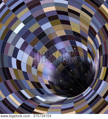 Colored Vector Illustration Abstract Dark Open Hole