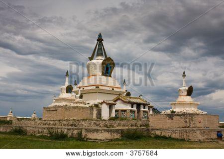 Stupa At Karakorum Monastery Mongolia