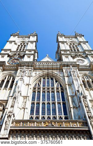 Photo of Westminster Abbey and Blue Sky