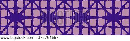 Japanese Tie Dye Seamless Pattern. Geo Shape Shell Design Geometric Bohemian Asian Tie Dye Pattern.