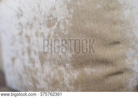 Background Beautiful Beige Pillow For Sofa Closeup