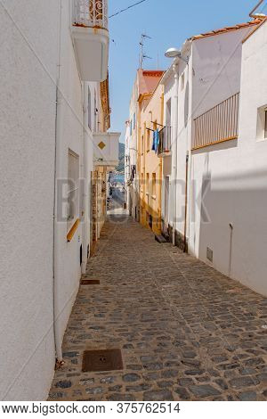 Port De La Selva, Spain : 9 July 2020 : Street In Port De La Selva, One Of The Most Touristic Villag