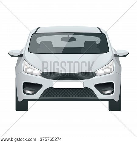 Car Vector Template On White Background. Compact Crossover, Cuv, 3-door Station Wagon Car. Template