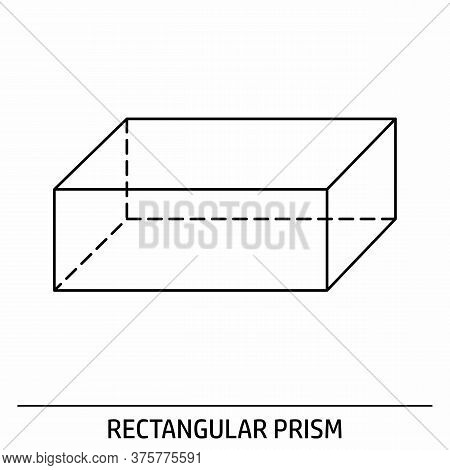 A Rectangular Prism Outline Icon On White Background