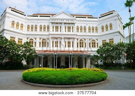 The Raffles Hotel In Singapore, Main Entrance