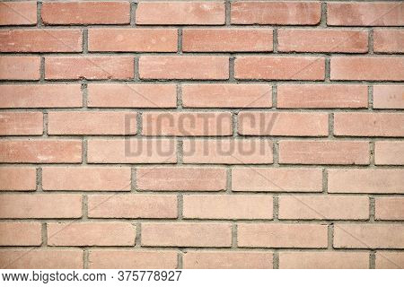 New And Clean Red Brick Wall. High Resolution Photo. Full Depth Of Field (dof).