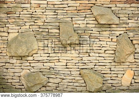 Stone Wall, For Background Or Texture. High Resolution Photo. Full Depth Of Field (dof).