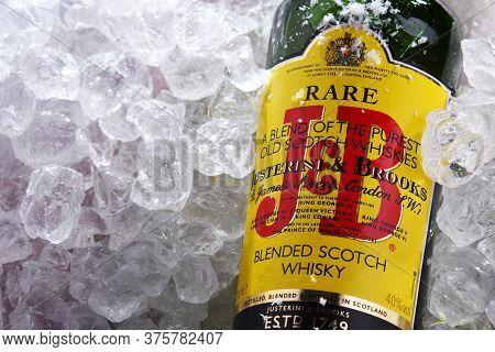 Bottle Of J&b Rare Blended Scotch Whisky