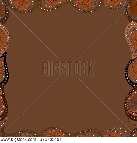 Illustration In Brown, White And Black Colors. Vector Illustration. Seamless Pattern.hand Drawn Dood