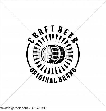 Craft Beer Logo Design On White Background, Craft Beer Logo- Vector Illustration, Emblem Brewery Des
