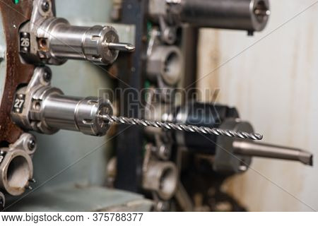 Cnc Machine. Mills For The Machine. Metal Milling Cutters