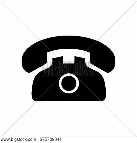 Vector Simple Illustration Isolated On White Background - Telephone