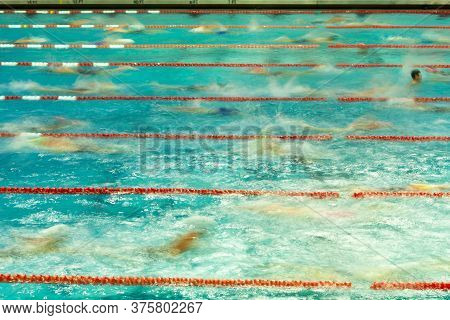 Abstract Blur Swimmers