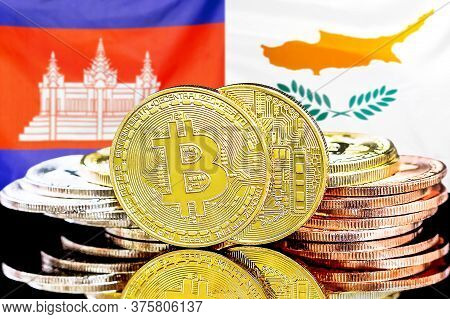 Concept For Investors In Cryptocurrency And Blockchain Technology In The Cambodia And Cyprus. Bitcoi