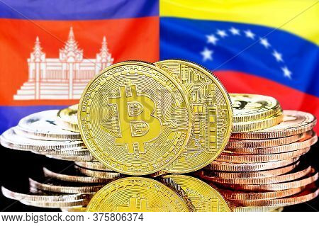 Concept For Investors In Cryptocurrency And Blockchain Technology In The Cambodia And Venezuela. Bit
