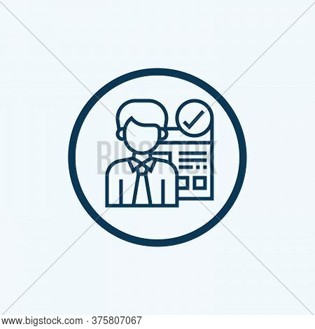 Human Resources Icon Isolated On White Background From Recruitment Collection. Human Resources Icon