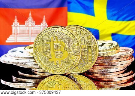 Concept For Investors In Cryptocurrency And Blockchain Technology In The Cambodia And Sweden. Bitcoi