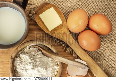 Bread, Cooking Basics. The View From The Top. Rustic Style. Own Hand.