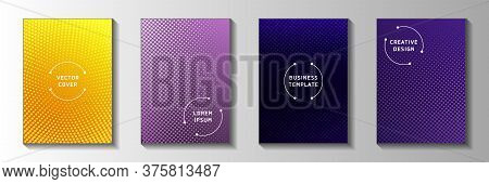Futuristic Point Screen Tone Gradation Front Page Templates Vector Series. Medical Journal Faded Scr