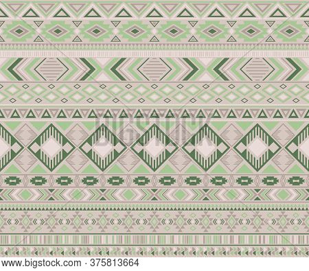 Peruvian American Indian Pattern Tribal Ethnic Motifs Geometric Seamless Background. Doodle Native A