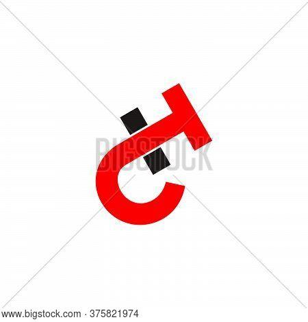 Letter C T H Simple Linked Design Symbol Logo Vector