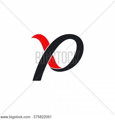 Abstract Letter P Motion 3d Ribbon Vector Fit For Logo Product